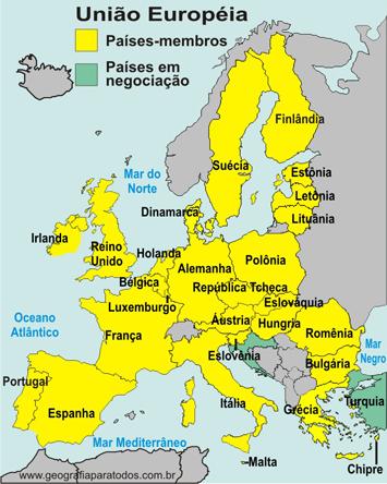 Paises Uniao Europeia