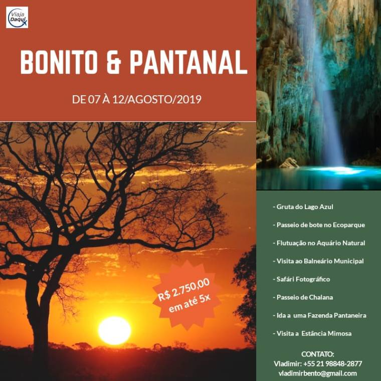 2019 - Bonito e Pantanal