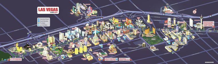 Mapa Turístico Las Vegas