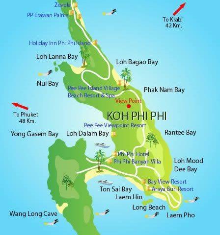 Koh Phi Phi - Mapa