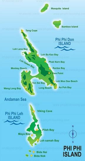 Koh Phi Phi - Mapa2